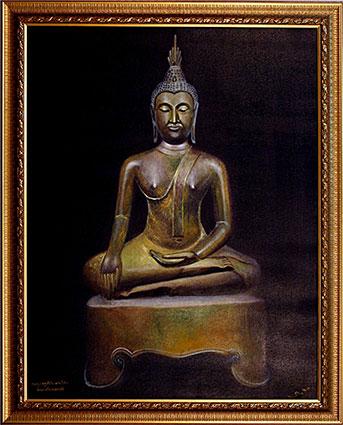 289-พระพุทธรูป ปางมารวิชัย ศิลปะสมัยกำแพงเพชร